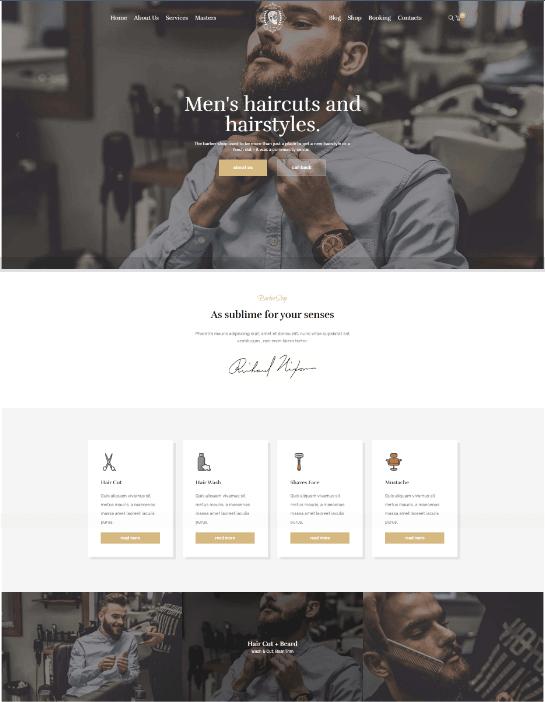 Diseño web peluqueria 1