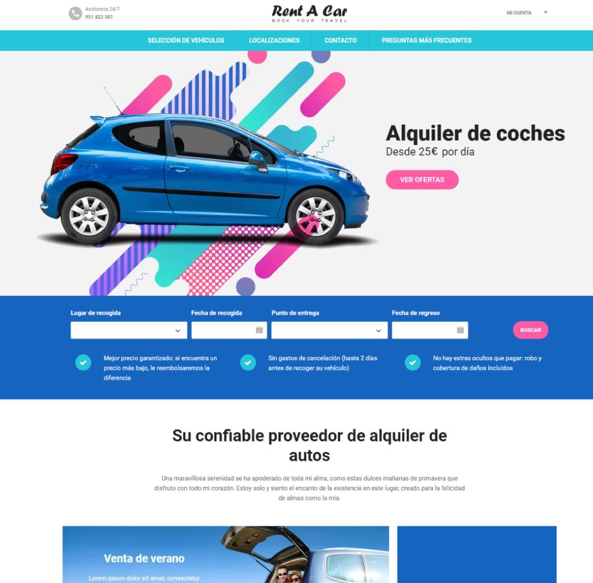 página web alquiler de coches