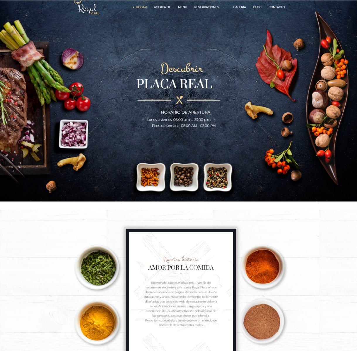 página web catering