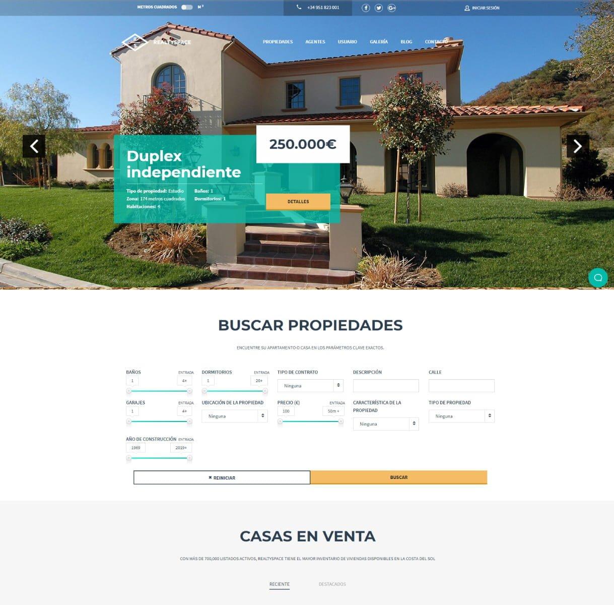 páginas web inmobiliarias