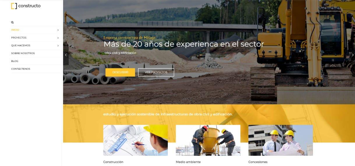 página web constructoras