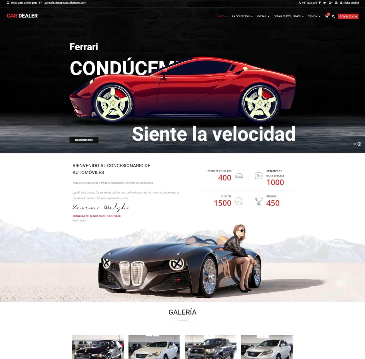 página web concesionarios de coches