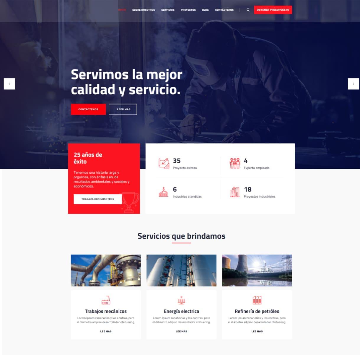 página web ingenieros