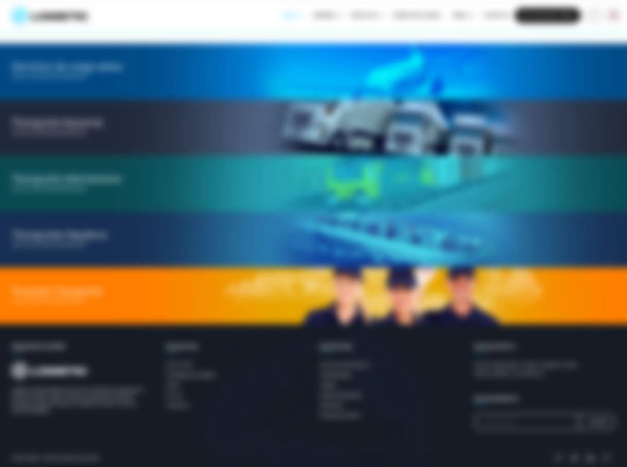 Página web logística y transportes