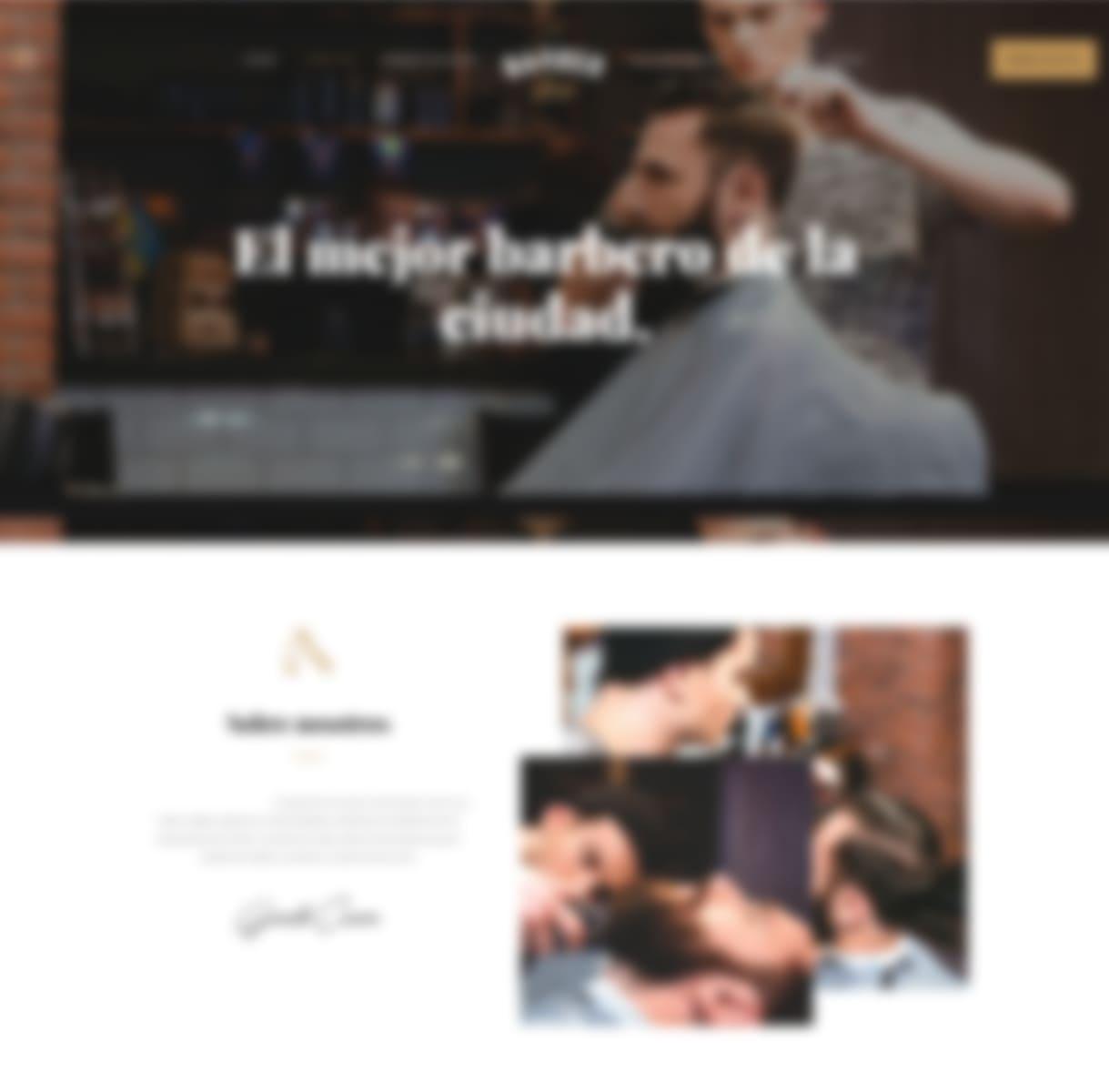 páginas web para peluquería y estética