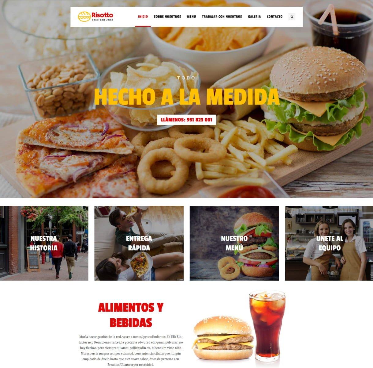 página web restaurantes