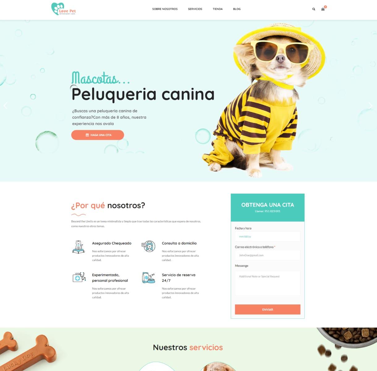 páginas web veterinarios
